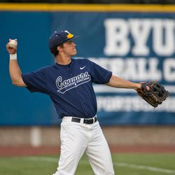 Former BYU outfielder Andy Isom is married to Cougar women's soccer player Taylor Campbell.