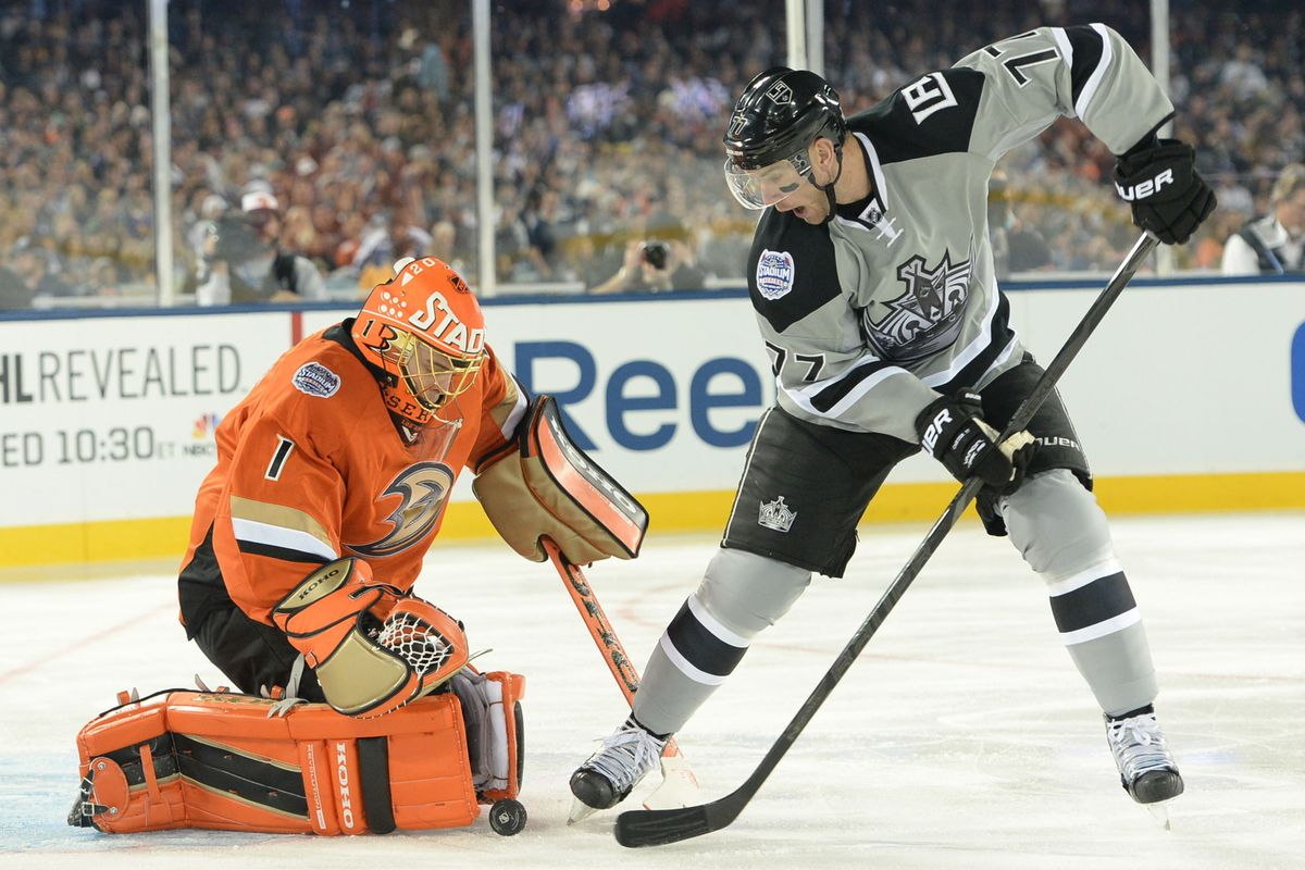 This shot was saved, as were 96% of the Kings' shots on Anaheim this year.