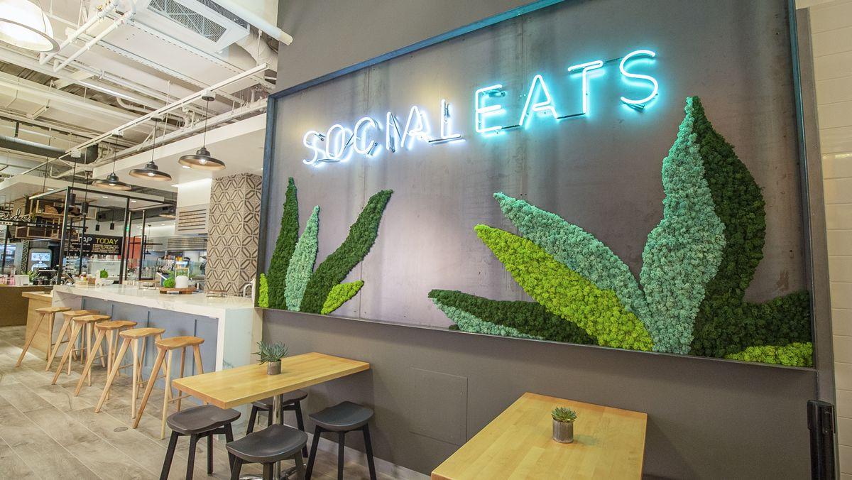 View inside virtual food hall SocialEats Santa Monica