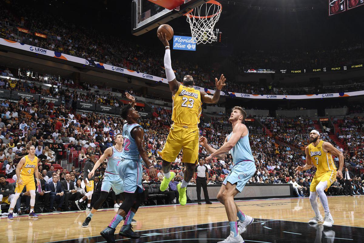 Lakers Vs Heat Final Score Lebron James Anthony Davis