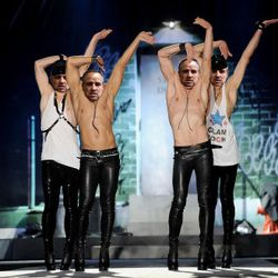 These DSquared leather pants might not be appropriate for the elaborate weddings held in the prison chapel, but they'll do just fine for dance routines in the yard.