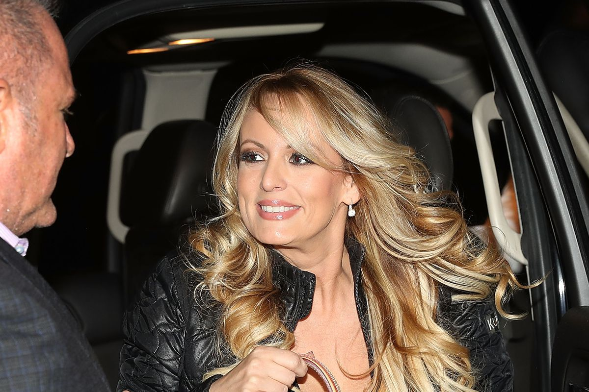 Stormy Daniels, who appeared on 60 Minutes to discuss her alleged affair with Donald Trump, pictured on March 9