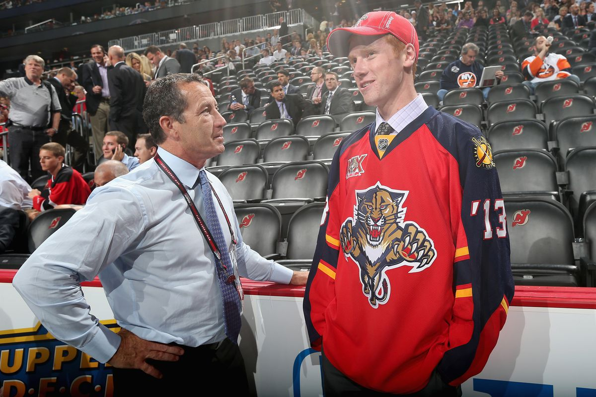 Florida Panthers draft pick Evan Cowley will be ahead of Greg Ogard on the depth chart for the DU Pioneers.