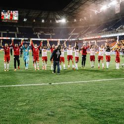 Job done: 2-0 win over D.C. United at Red Bull Arena