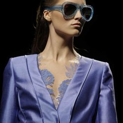 A model wears a creation part of the Alberta Ferretti women's Spring-Summer 2013 collection that was presented in Milan, Italy, Wednesday, Sept. 19, 2012.