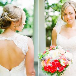"""<a href=""""http://www.victoriastiles.com""""><b>Victoria Stiles:</b></a> """"Alex's style was very classic bride; clean, soft, beautiful with a touch of chic elegance, perfect for her wedding at the Textile Museum in DC!  I absolutely love the way her entire wedd"""
