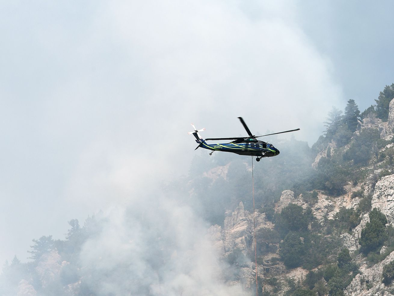 Wildfire east of North Ogden has burned an estimated 30 acres so far