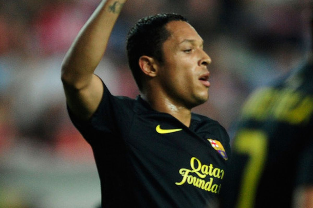 Adriano fired Barcelona to the top.