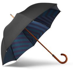 """<a href=""""http://www.mrporter.com/en-us/mens/london_undercover/maple-handle-camouflage-lined-umbrella/481224"""">London Undercover umbrella</a>, $275 <br>""""A cheap umbrella from your local bodega is a false economy. One strong gust of wind and it will flip it"""