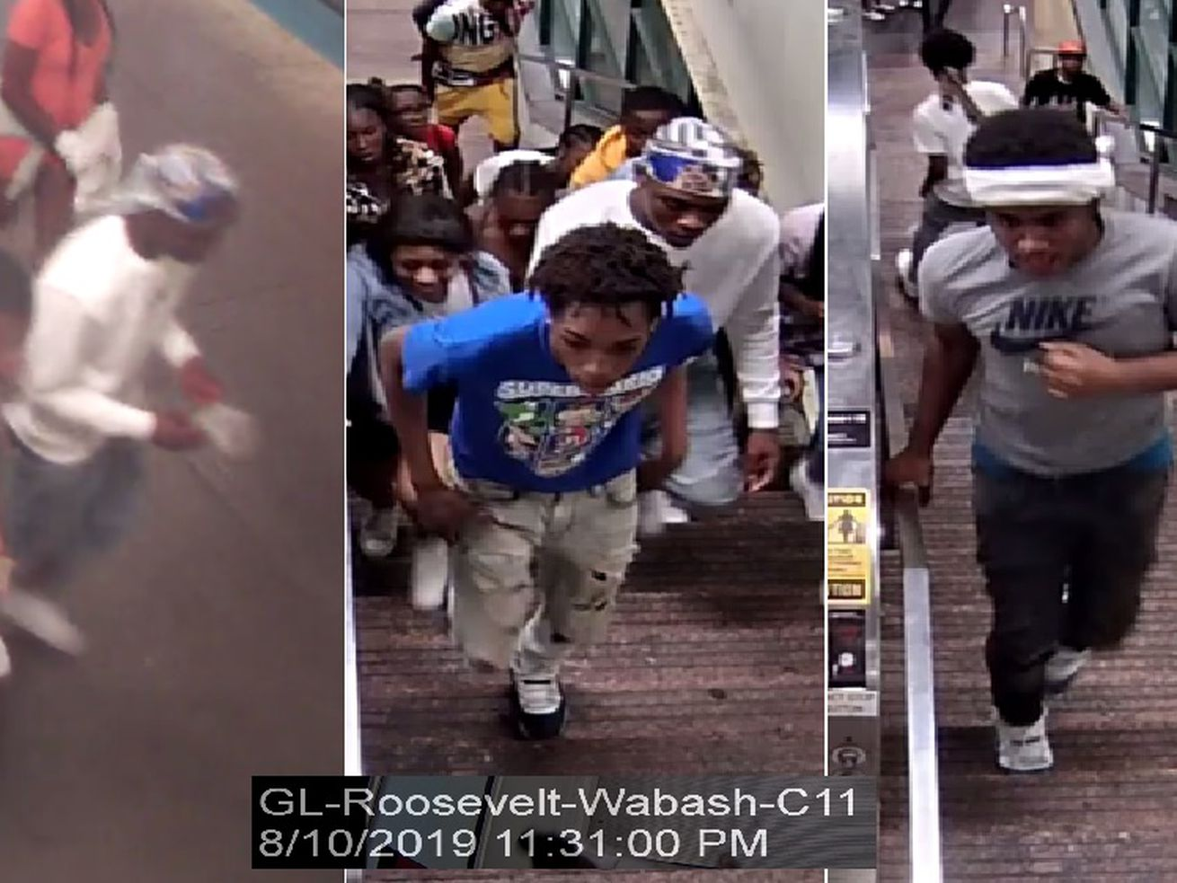 Police release images of aggravated battery and robbery.