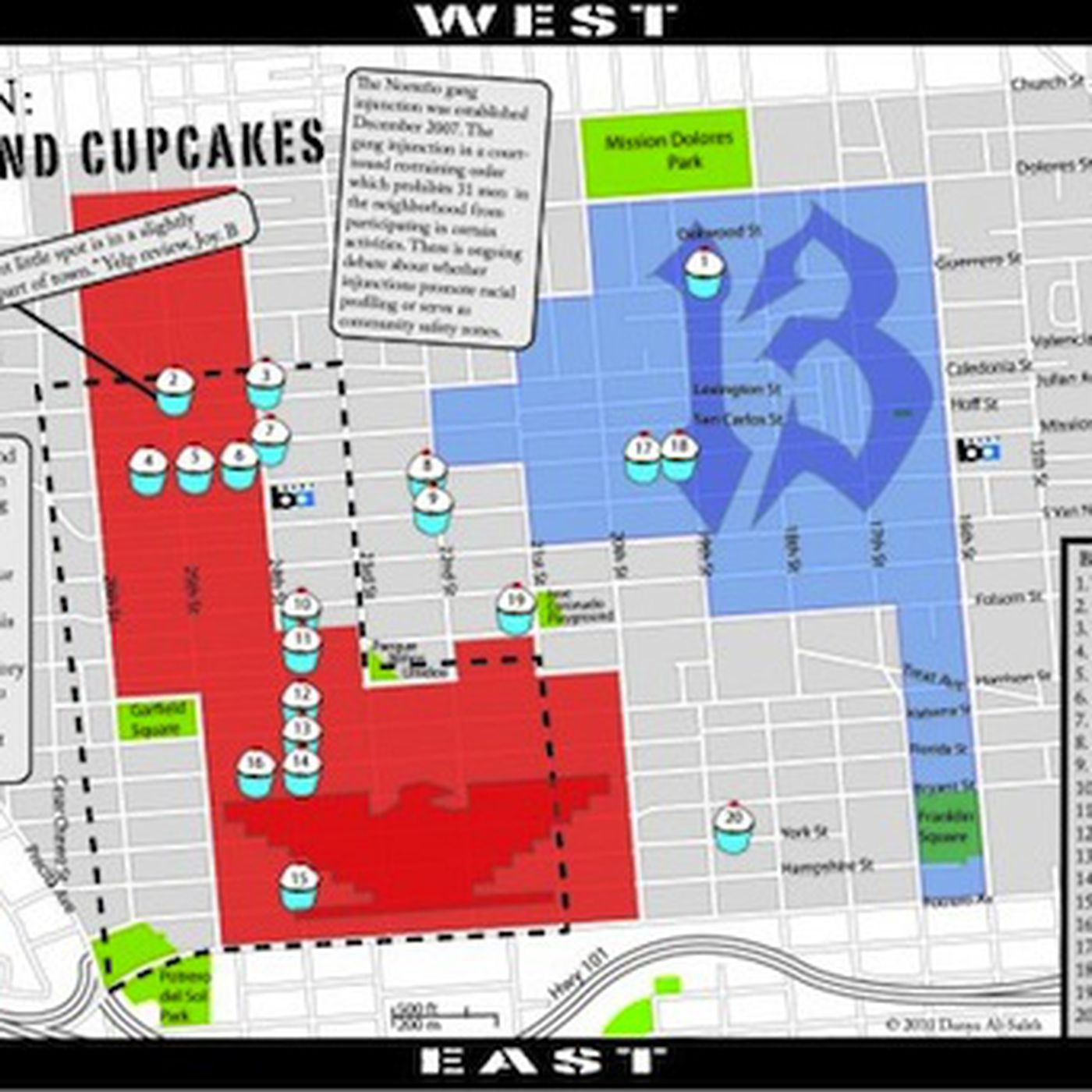 Mapping Gangs And Cupcakes In San Franciscos Mission Eater