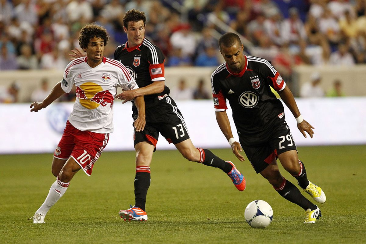 Will Maicon Santos #29 of the D.C. United and  Chris Pontius #13 of the D.C. United haunt the Montreal Impact again? (Photo by Jeff Zelevansky/Getty Images)