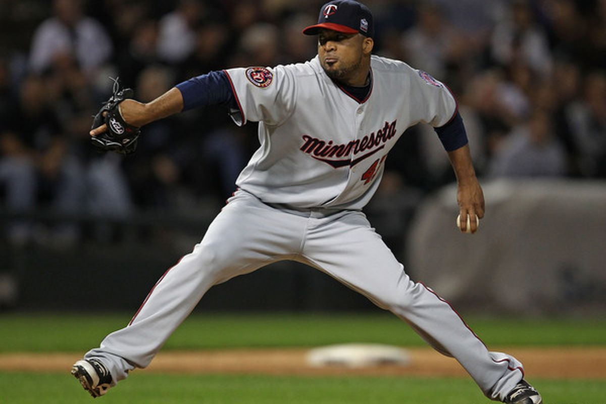 CHICAGO - SEPTEMBER 14: Starting pitcher Francisco Liriano #47 of the Minnesota Twins delivers the ball against the Chicago White Sox at U.S. Cellular Field on September 14 2010 in Chicago Illinois. (Photo by Jonathan Daniel/Getty Images)