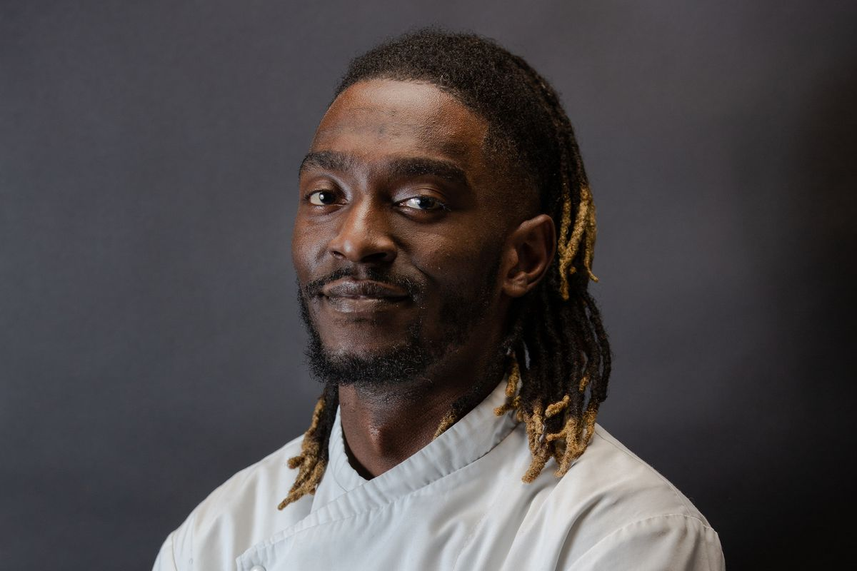 William JM Chilila, head chef and owner of Akoko, a new West African restaurant in Fitzrovia