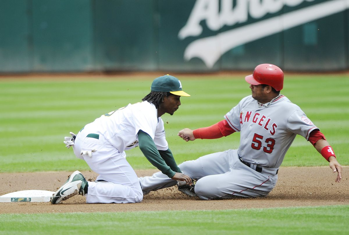 Los Angeles Angels of Anaheim v Oakland Athletics - Game One