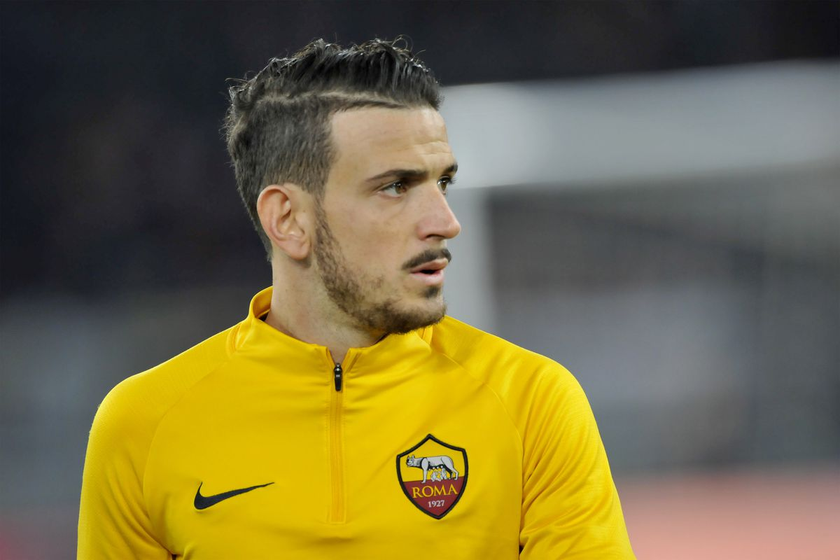 Alessandro Florenzi Roma player warming up, during the match...