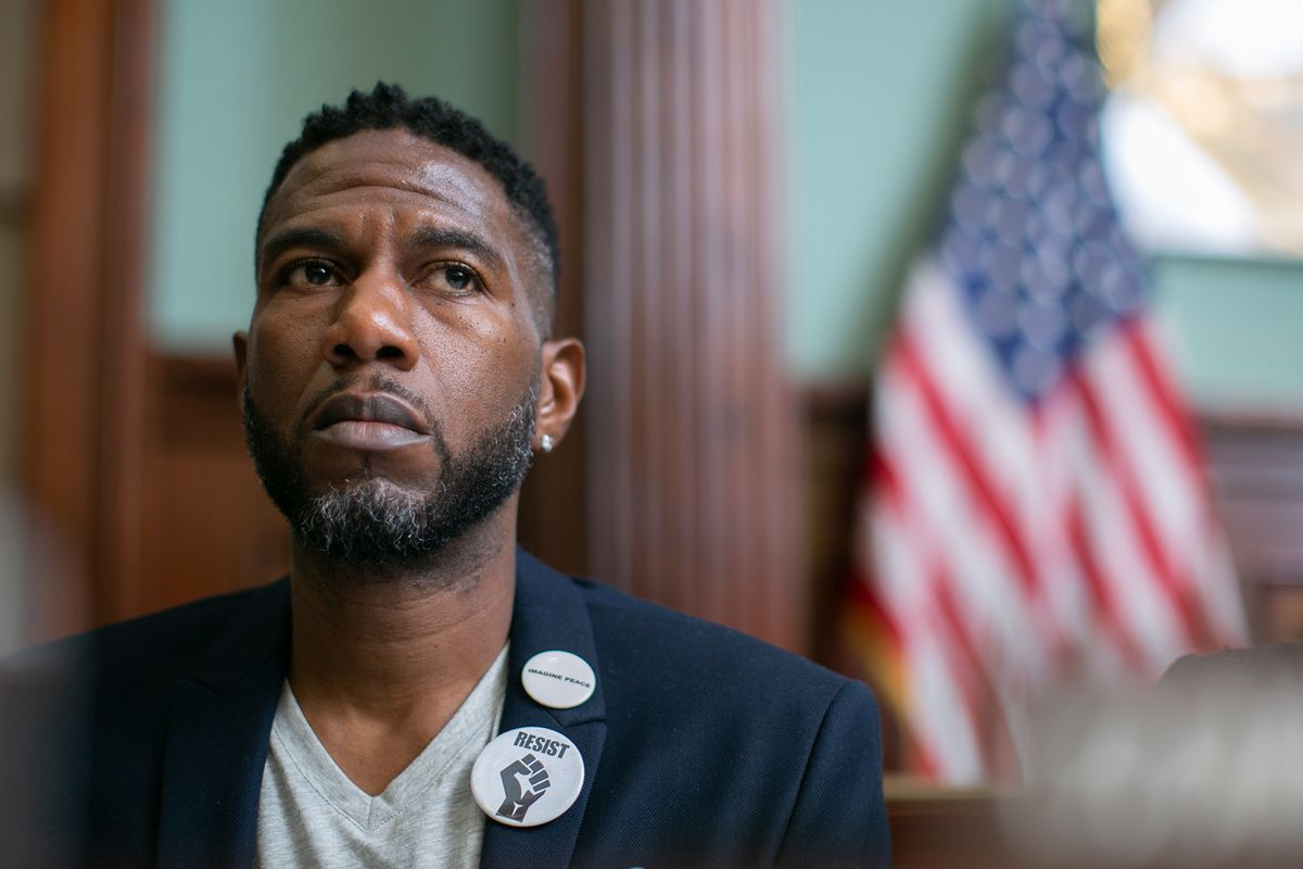 Public Advocate Jumaane Williams testifies before the City Council in 2019.