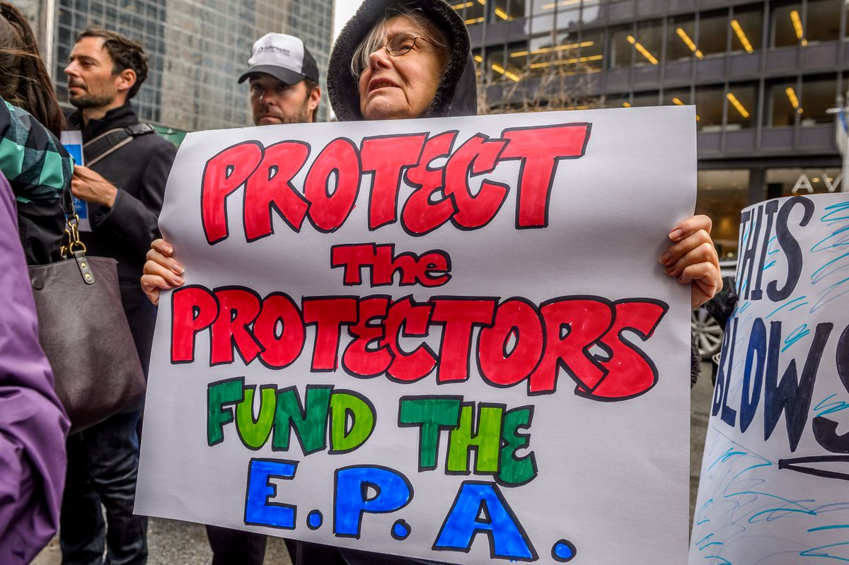 New York based Climate Activist Groups held a rally on April...