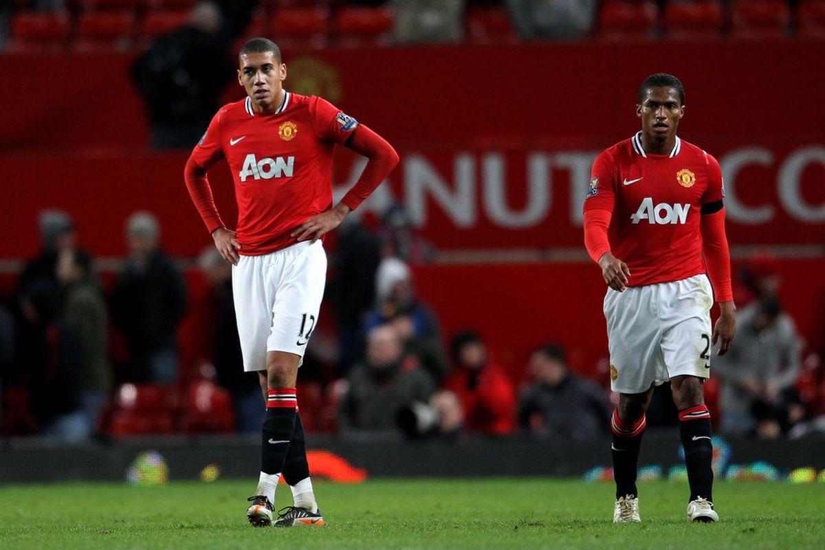 Both Chris Smalling and Antonio Valencia are nearing returns