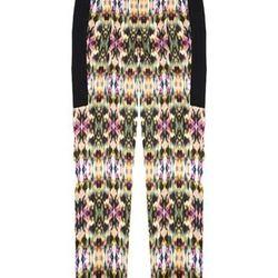 "<a href=""http://www.icbnyc.com/shop/azalea-multi-kaleidoscope-print-tuxedo-pant"">Kaleidoscope print tuxedo pants</a>, </a> $53.00 (was $350.00)"