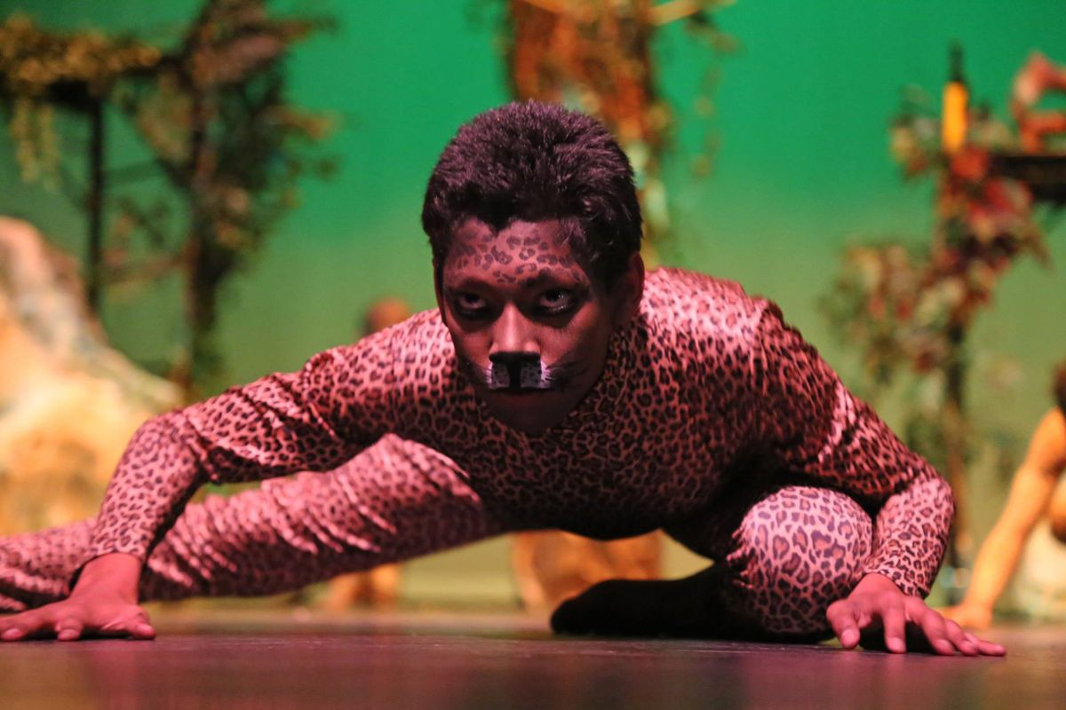 Noel 8th grader Lewis Gordon performs in the school's recent advanced arts dance show.
