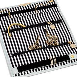 "Striped jewelry roll, <a href=""http://www.baublebar.com/striped-jewelry-roll.html"">$48</a>"