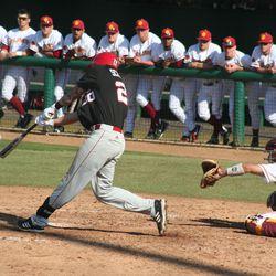 Husker Baseball: Josh Scheffert SAC fly