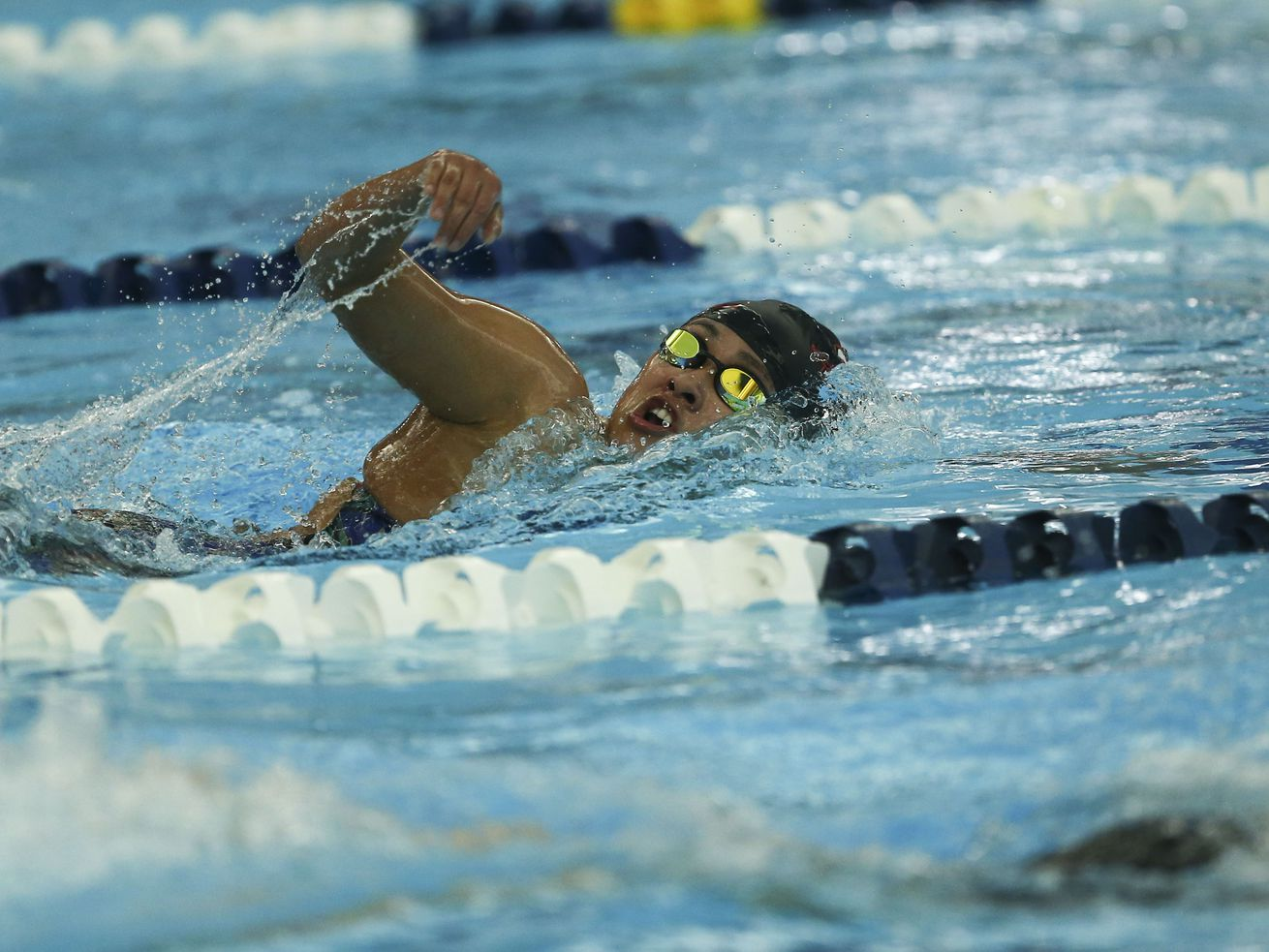 Allie Hill of American Fork High School swims during the 6A Swimming Championship at the Richards Building at BYU in Provo on Saturday, Feb. 9, 2019.