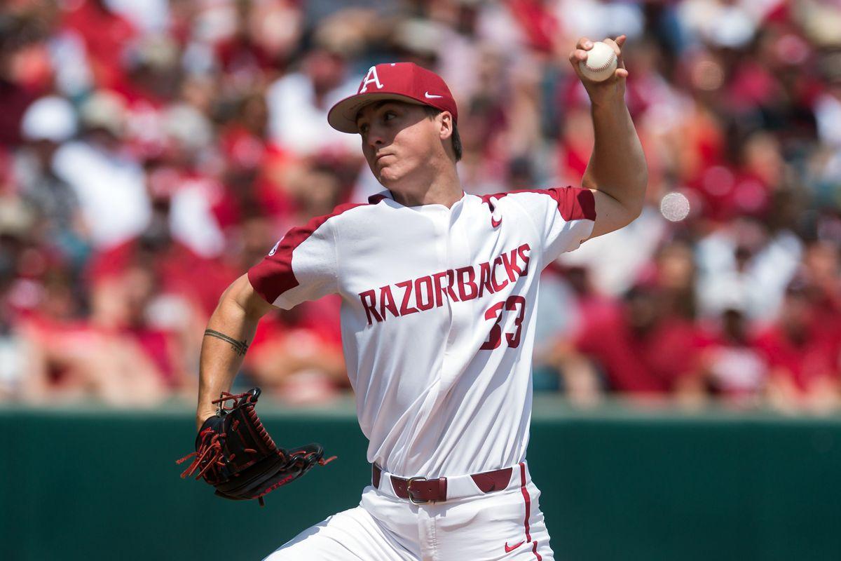 NCAA Baseball: Super Regional-Mississippi at Arkansas