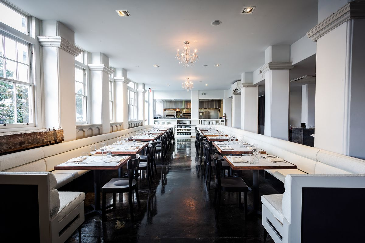 Inside the dining room at Rose + Rye.