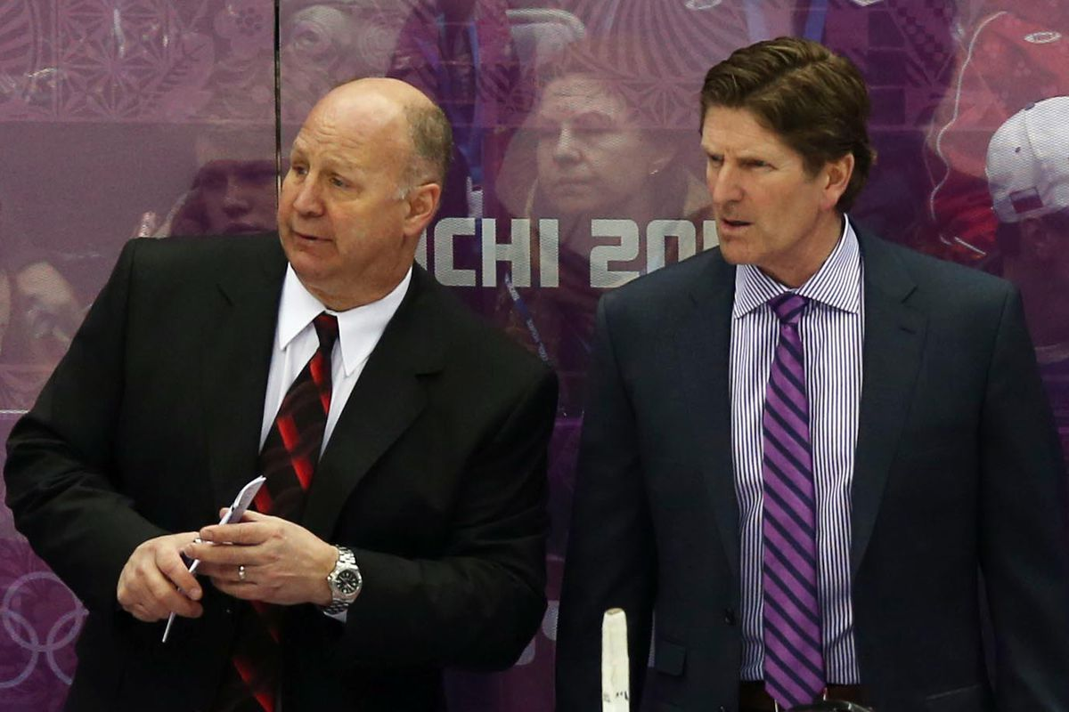 Claude Julien and Mike Babcock working together at Sochi
