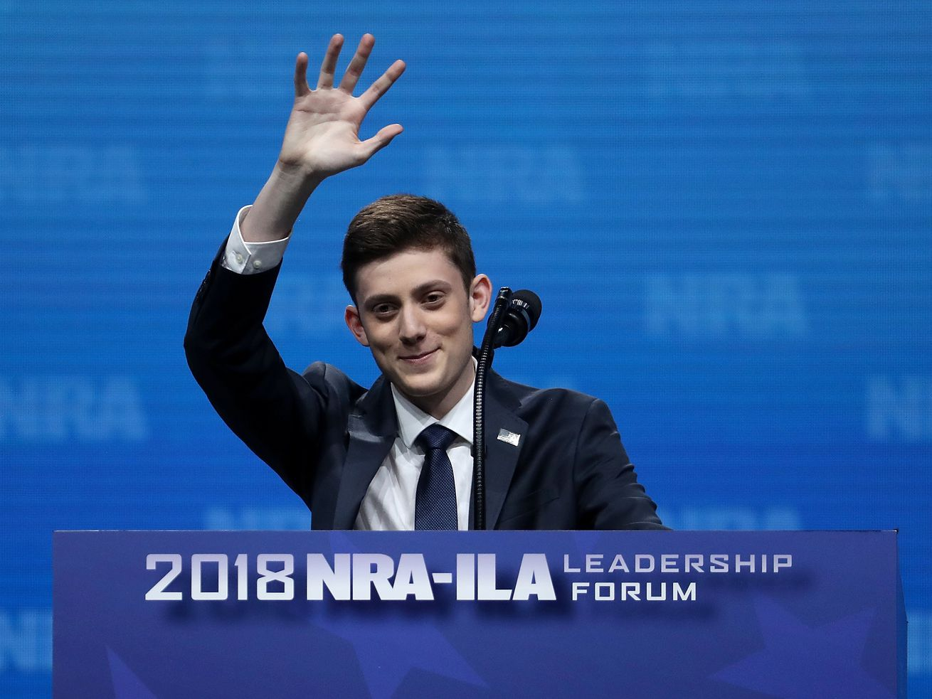 Marjory Stoneman Douglas High School student Kyle Kashuv speaks at at an NRA event on May 4, 2018, in Dallas, Texas.