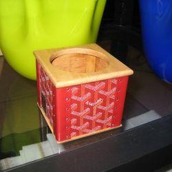 Goyard candle holder, $970