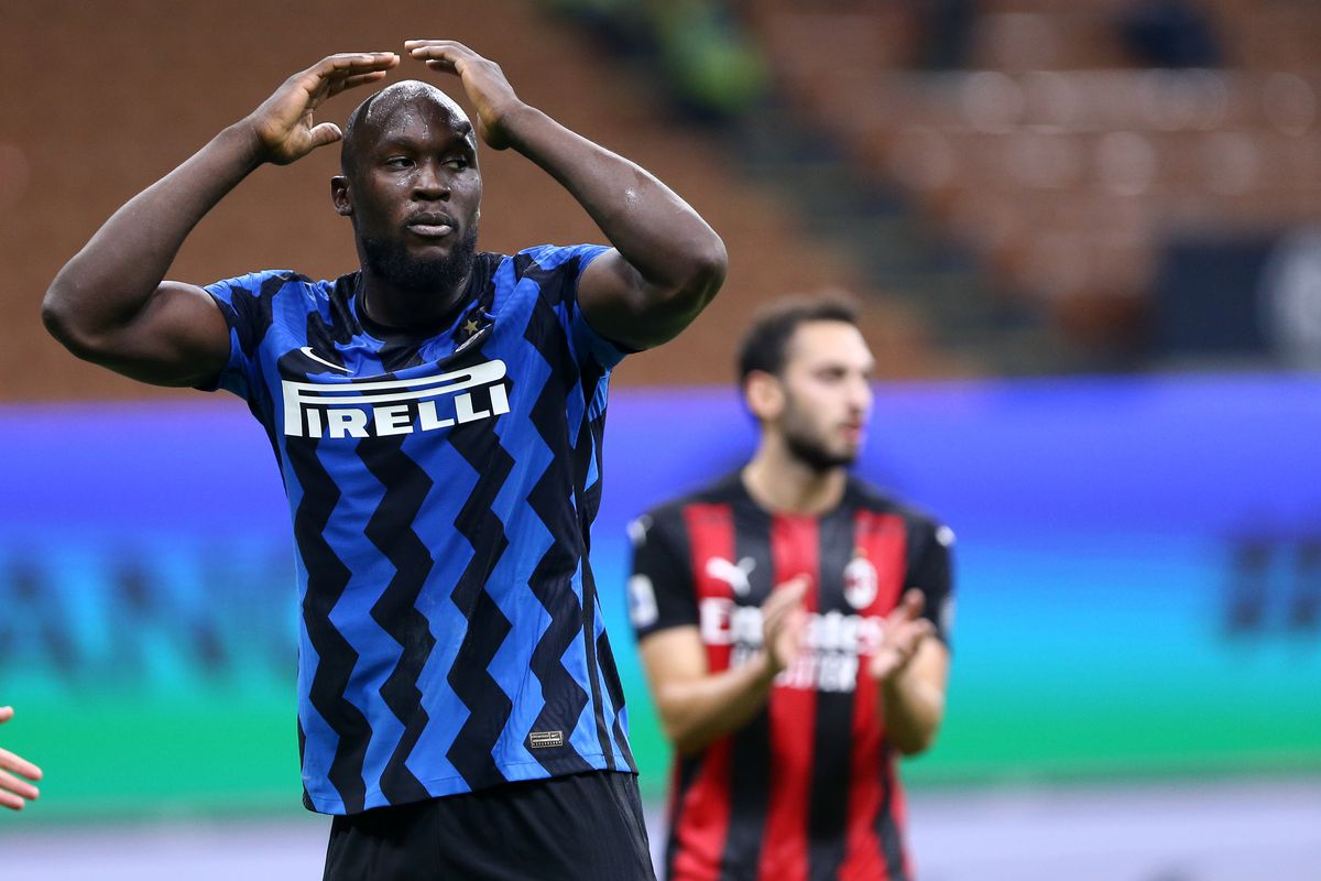 Romelu Lukaku of FC Internazionale disappointed during the...