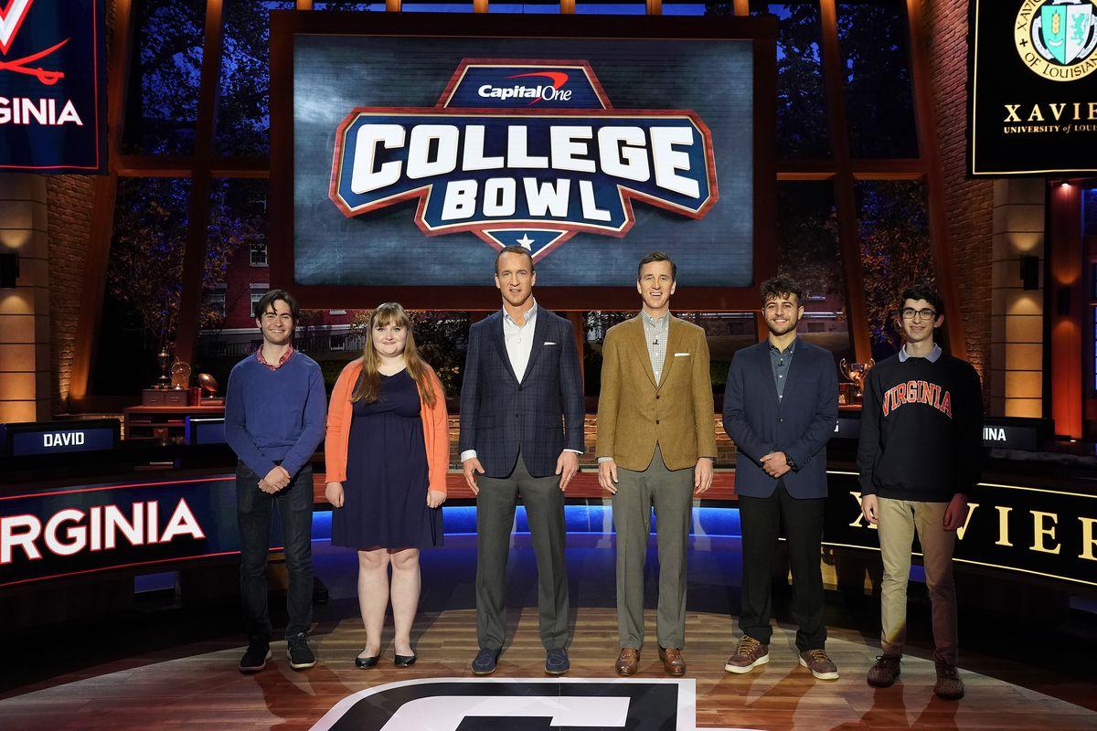 CAPITAL ONE COLLEGE BOWL: David, Alana, Peyton Manning, Cooper Manning, Rany, David