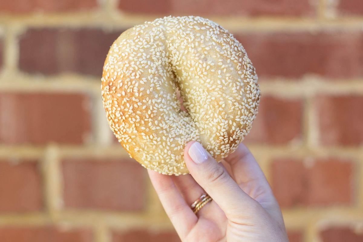 A Montreal-style bagel from Pearl's