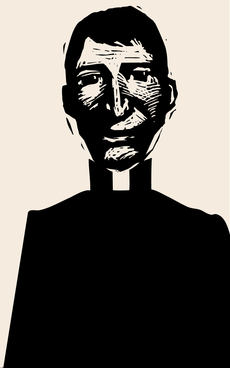 Illustration of a priest.
