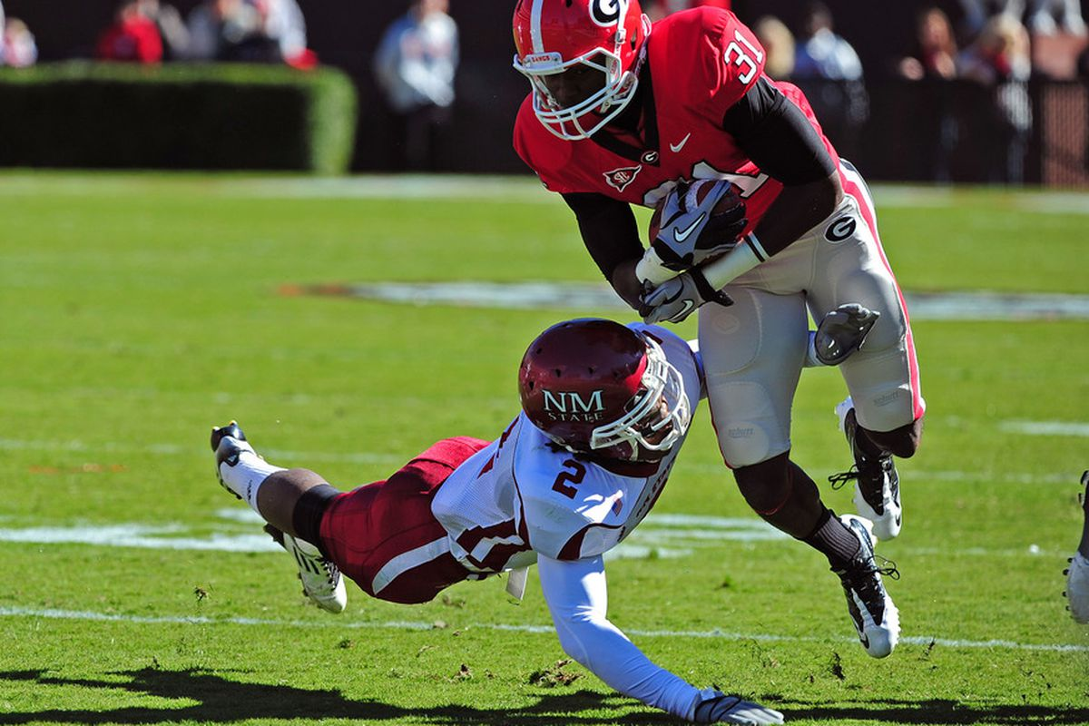 Speedy receivers like Chris Conley have made Mark Richt's passing offense go since the Tallahassee Dillard's was giving 5 finger discounts.
