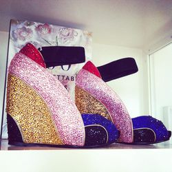 Crystallized Pierre Hardy wedges.