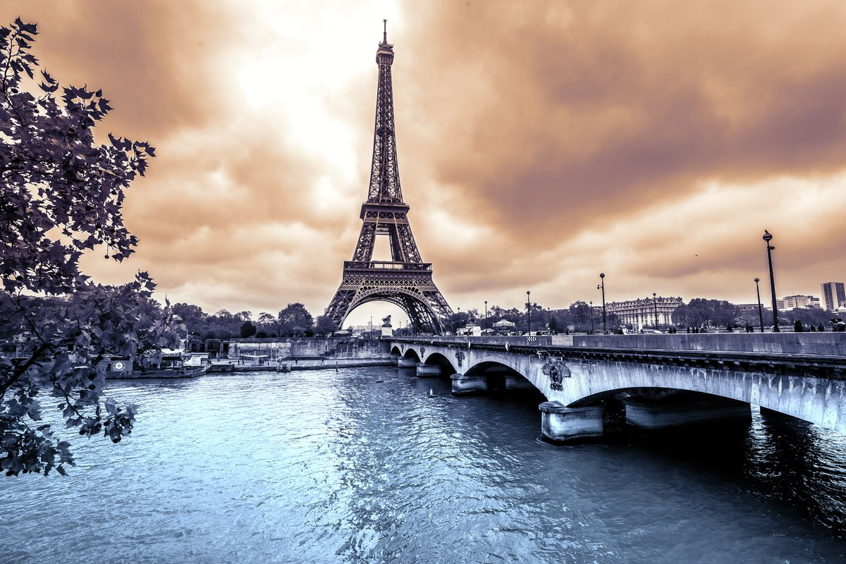 Nothing like a dramatic shot of Paris to set the mood.