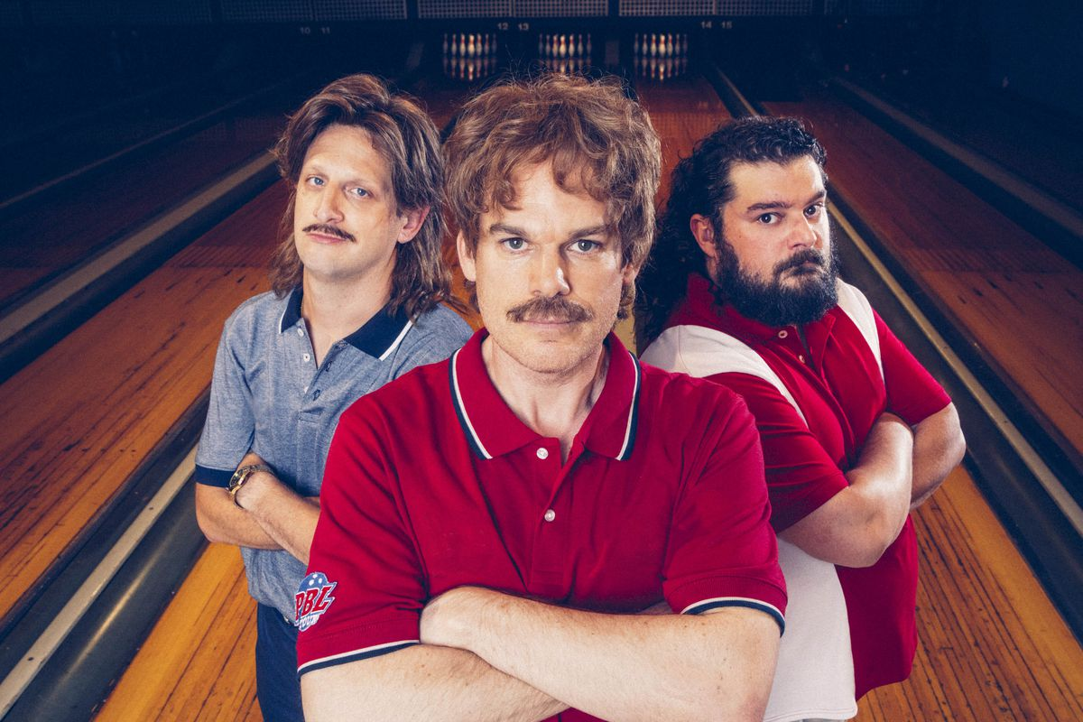 Tim Robinson, Michael C. Hall, and Bobby Moynihan play rival bowlers in the Season 3 finale of IFC's Documentary Now!
