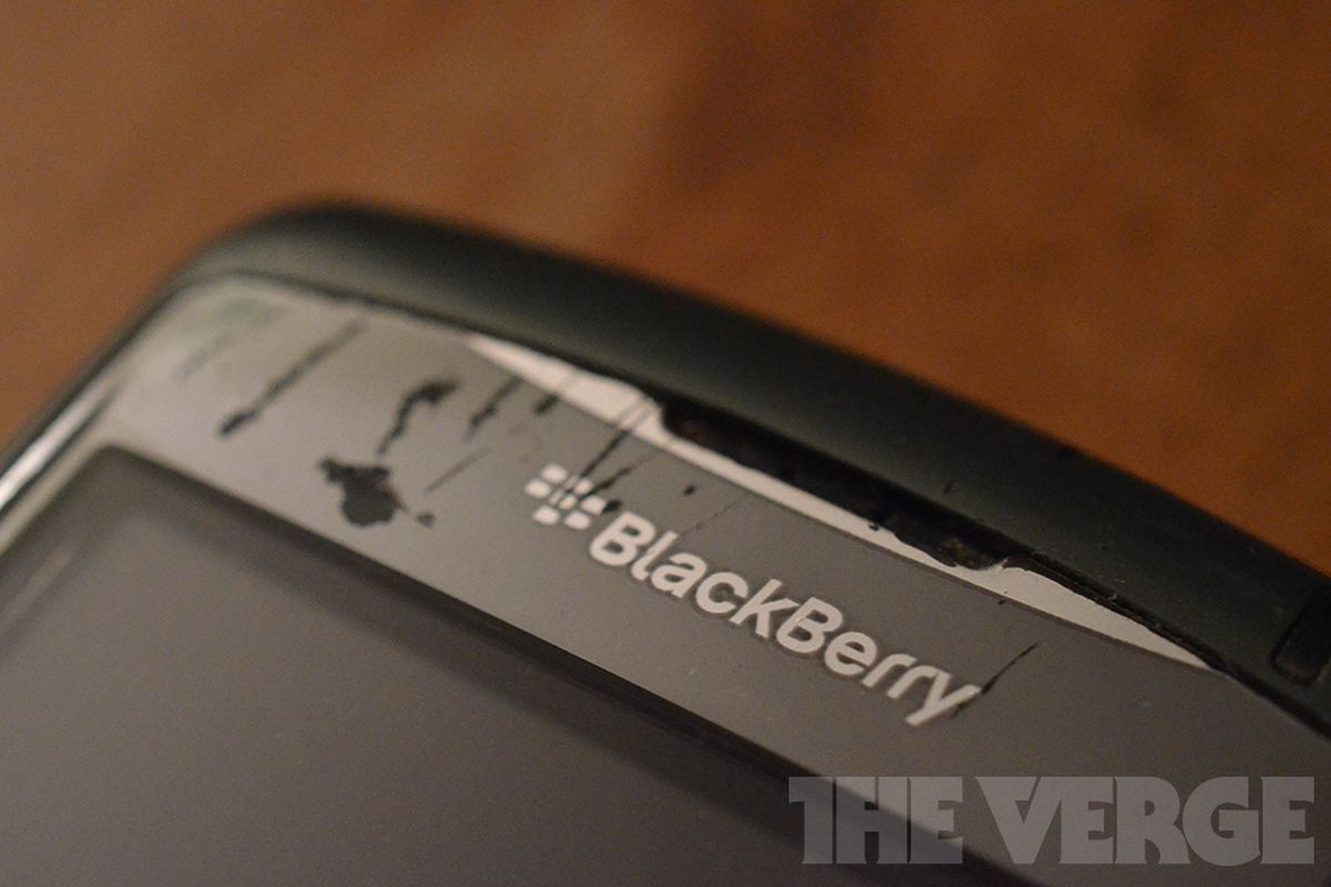 BlackBerry logo busted old bad stock (1020)