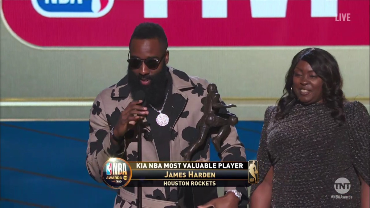 5567255d3fb6 Most Valuable Player: Out of Anthony Davis of the Pelicans, LeBron James of  the Cavaliers and James Harden of the Rockets, the 2018 NBA MVP is .