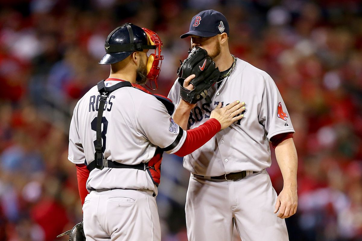 These two will be having talks like this in Cubs uniforms in 2015... and 2016