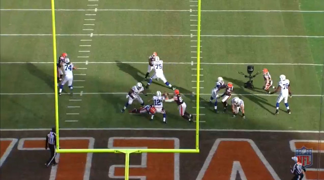 Week 14 Defense (2) - Luck Fumbles for TD