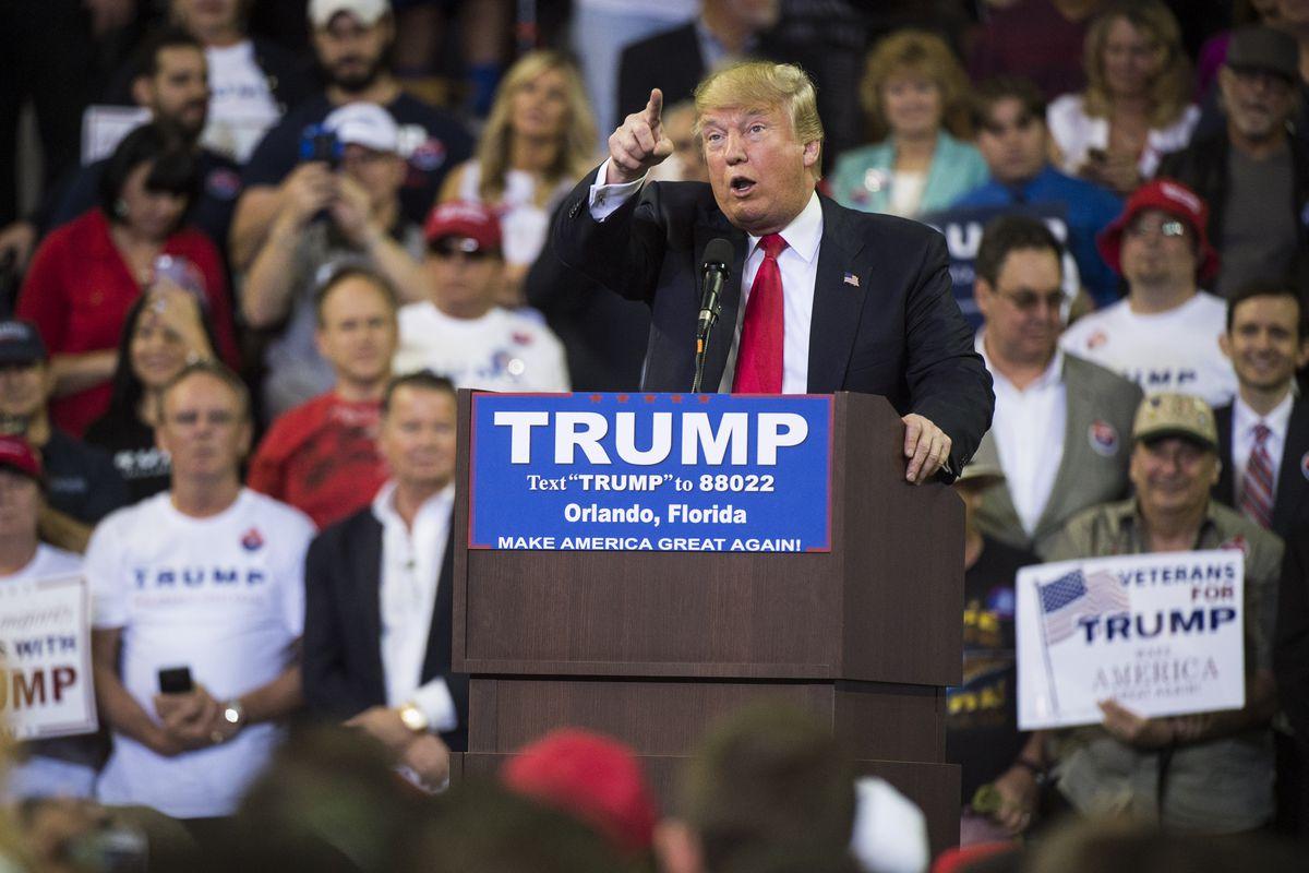 Trump protester rally