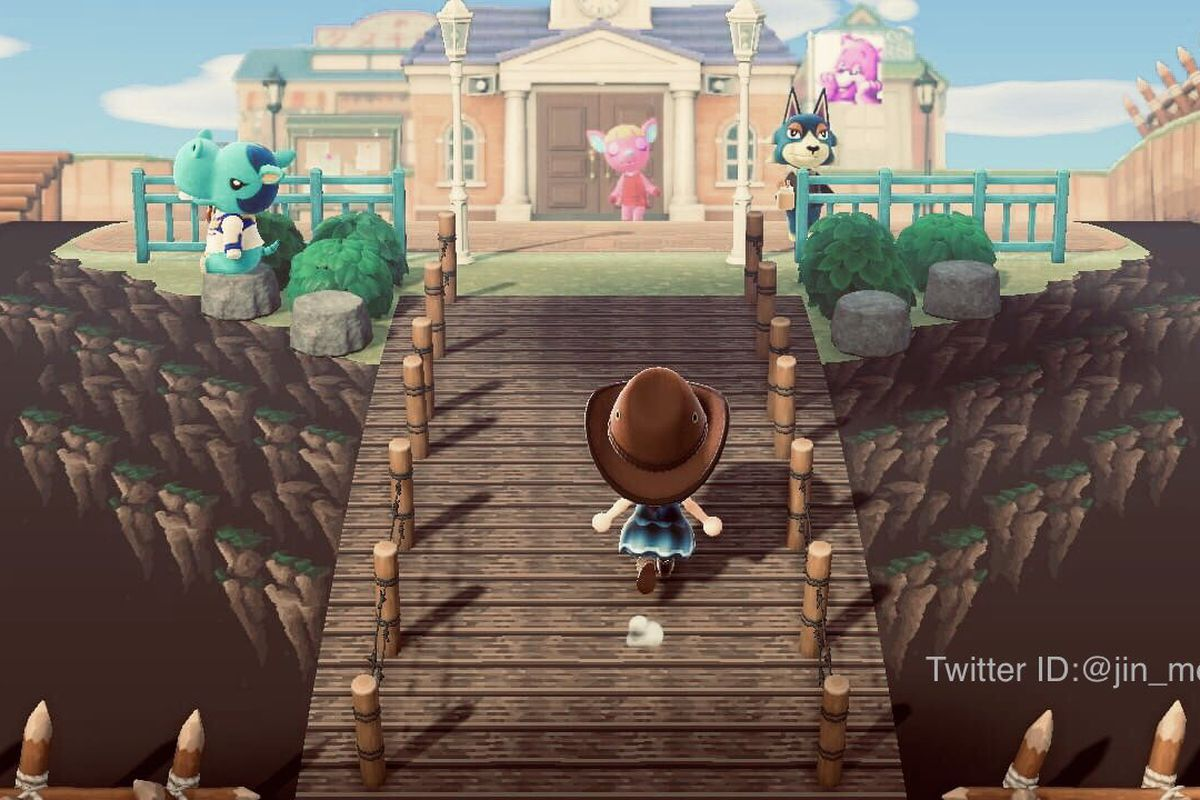 A floating island in Animal Crossing.