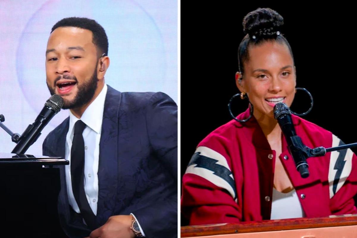 John Legend and Alicia Keys