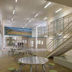 The Las Colinas Women's Detention Facility in San Diego County, California. Designed by HMC Architects. The new Utah prison will draw on some of the aesthetic concepts in this lower security, short-term facility.