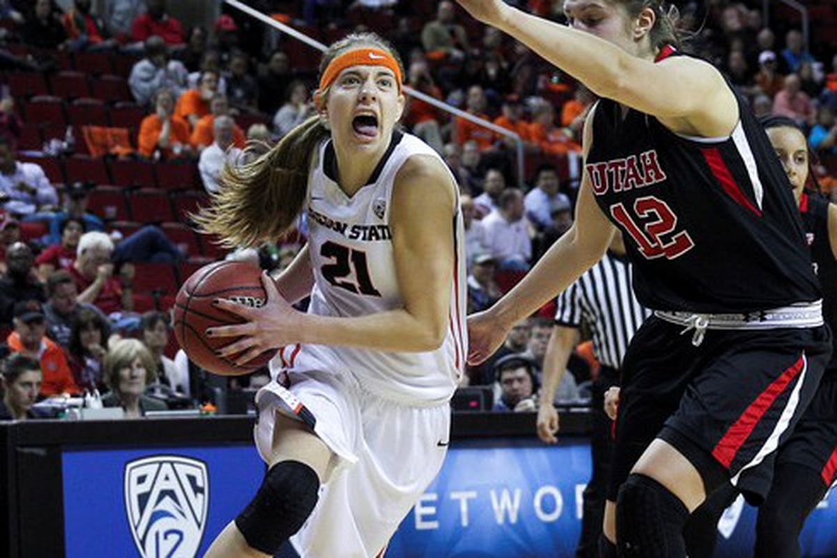 Sydney Wiese led Oregon St. past Utah and into the Pac-12 Tournament Semi-finals.